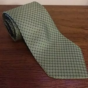 Tommy Hilfiger Mens Blue & Green Necktie